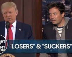 """Trump Calls Fallen Soldiers """"Losers"""" and """"Suckers""""   The Tonight Show"""